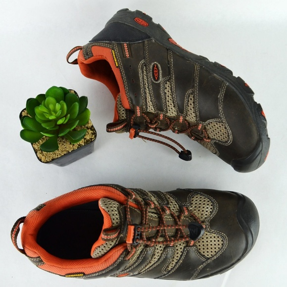 58f51dc7f40 KEEN Koven Low Hiking Shoes Brown Big Boys 6